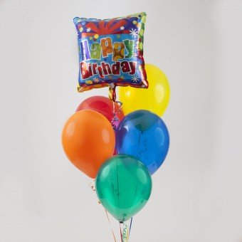 One Mylar - 5 Latex Balloon Bouquet