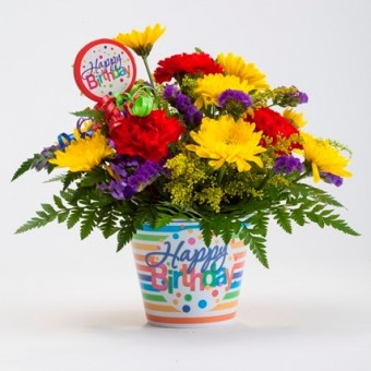 Birthday Color Burst Arrangement
