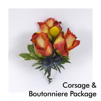 Earth Tones Wedding: Corsage & Boutonniere Package