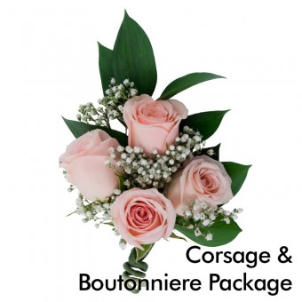 Pink Wedding: Corsage & Boutonniere Package