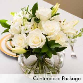 White Wedding Centerpiece Package Wedding Packages Require A 15 Day