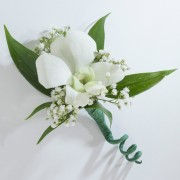 Single Dendrobium Orchid Boutonniere