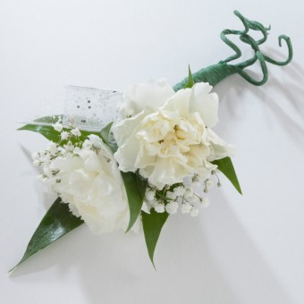 Two Mini-Carnation Boutonniere