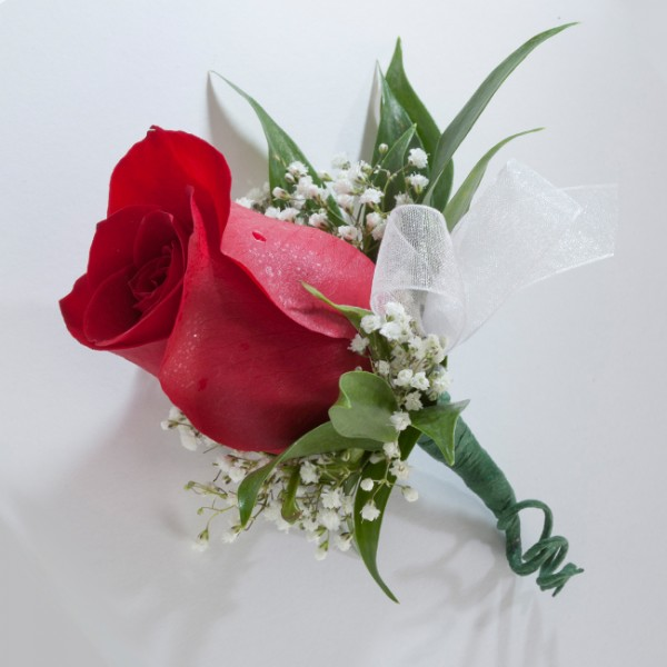 Single Rose Boutonniere Martin S Specialty Store Order Online Online Cake Amp Deli Orders