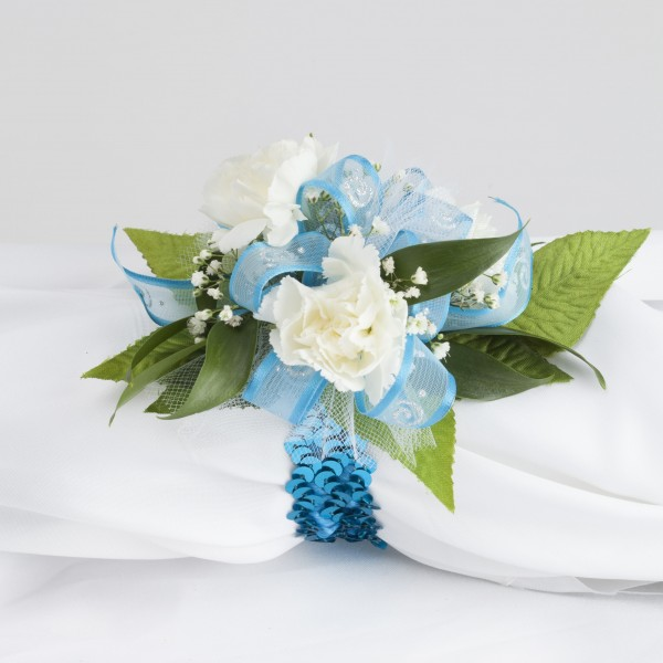 glam minicarnation wrist corsage  martin's specialty store order, Beautiful flower
