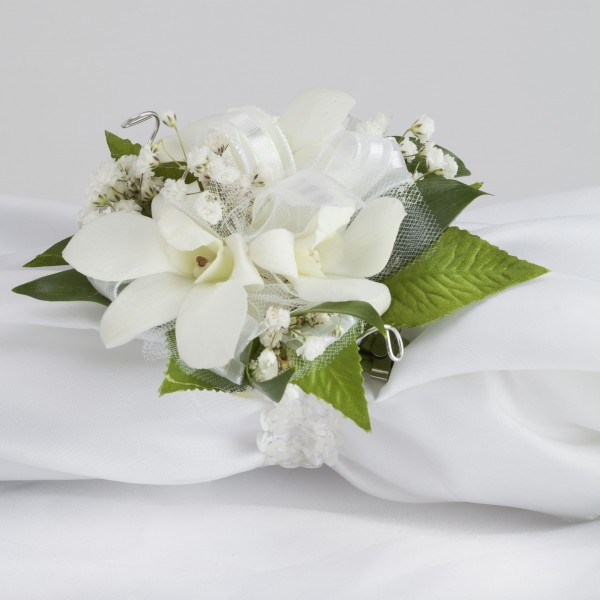 glam dendrobium orchid wrist corsage  martin's specialty store, Beautiful flower