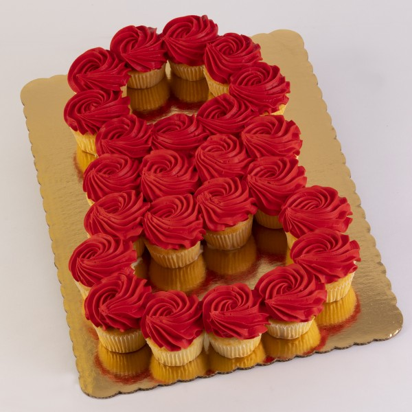 24ct Eight Cupcake Cake Online Ordering