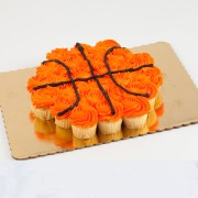24ct Basketball Cupcake Cake