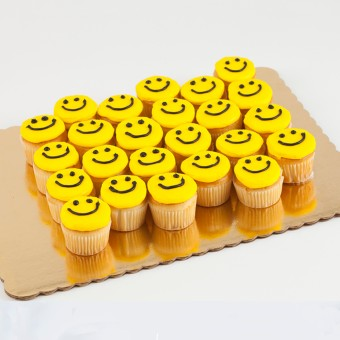 24ct Smiley Faces Cupcake Cake