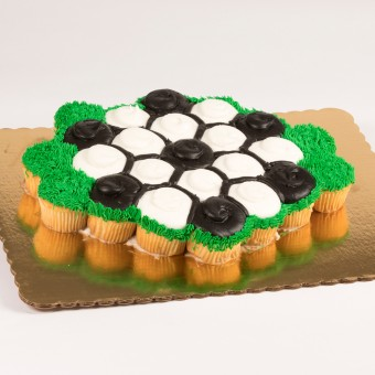 24ct Soccer Ball Cupcake Cake