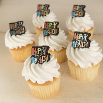 Birthday Shimmer Ring Cupcakes