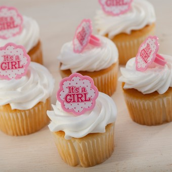 It's A Girl Ring Cupcakes