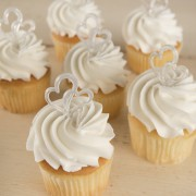 Wedding Double Heart Cupcakes