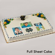 Graduation Floral Three Portrait & Mascot Cake