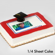 Graduation Bordered Portrait Cake