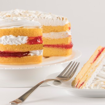 3 Layer Strawberry Torte Cake