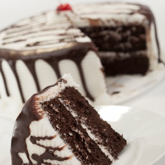 Hot Fudge 2 Layer Cake