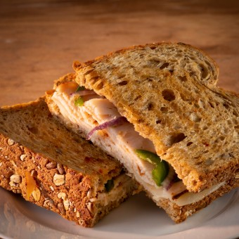 Spiced Turkey on Multigrain Panini